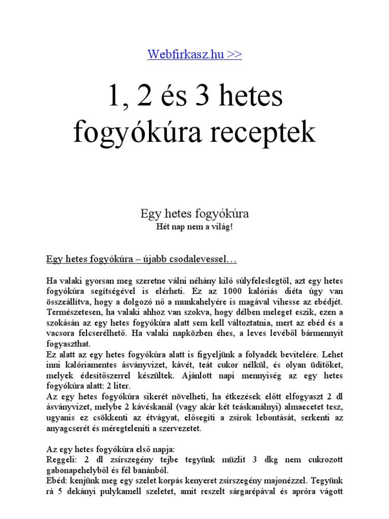 Sikeres fogyókúra/2 hét/