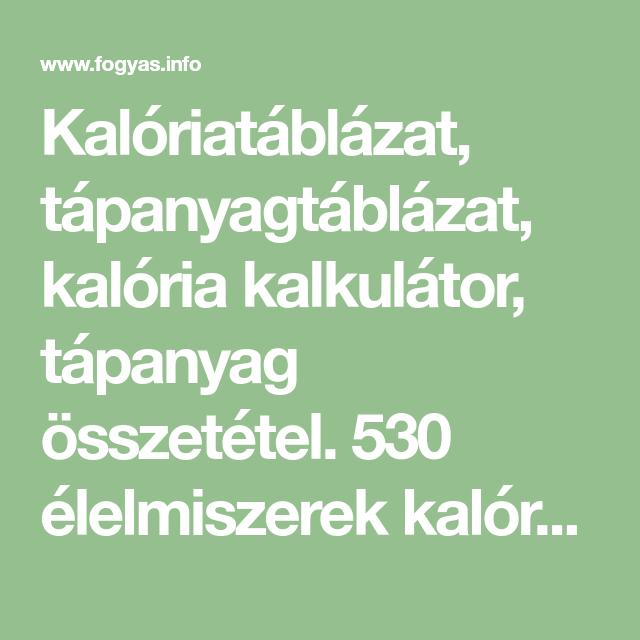 fogyás kalória kalkulátor)
