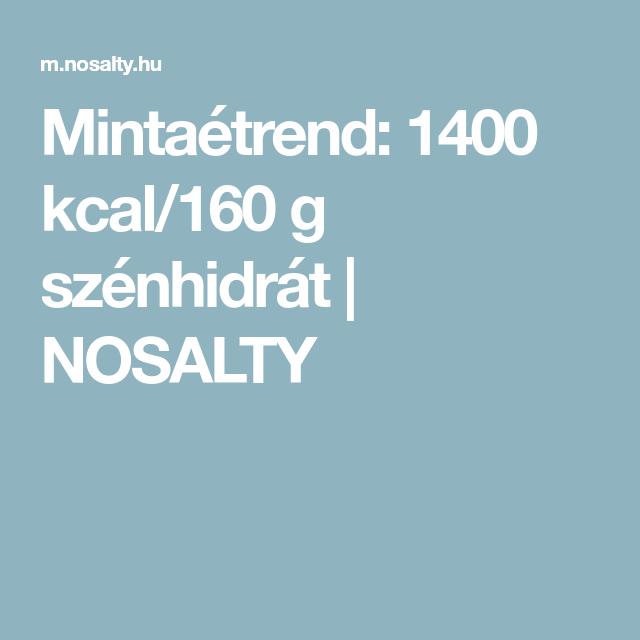 1400 kcal étrend cukorbetegeknek)