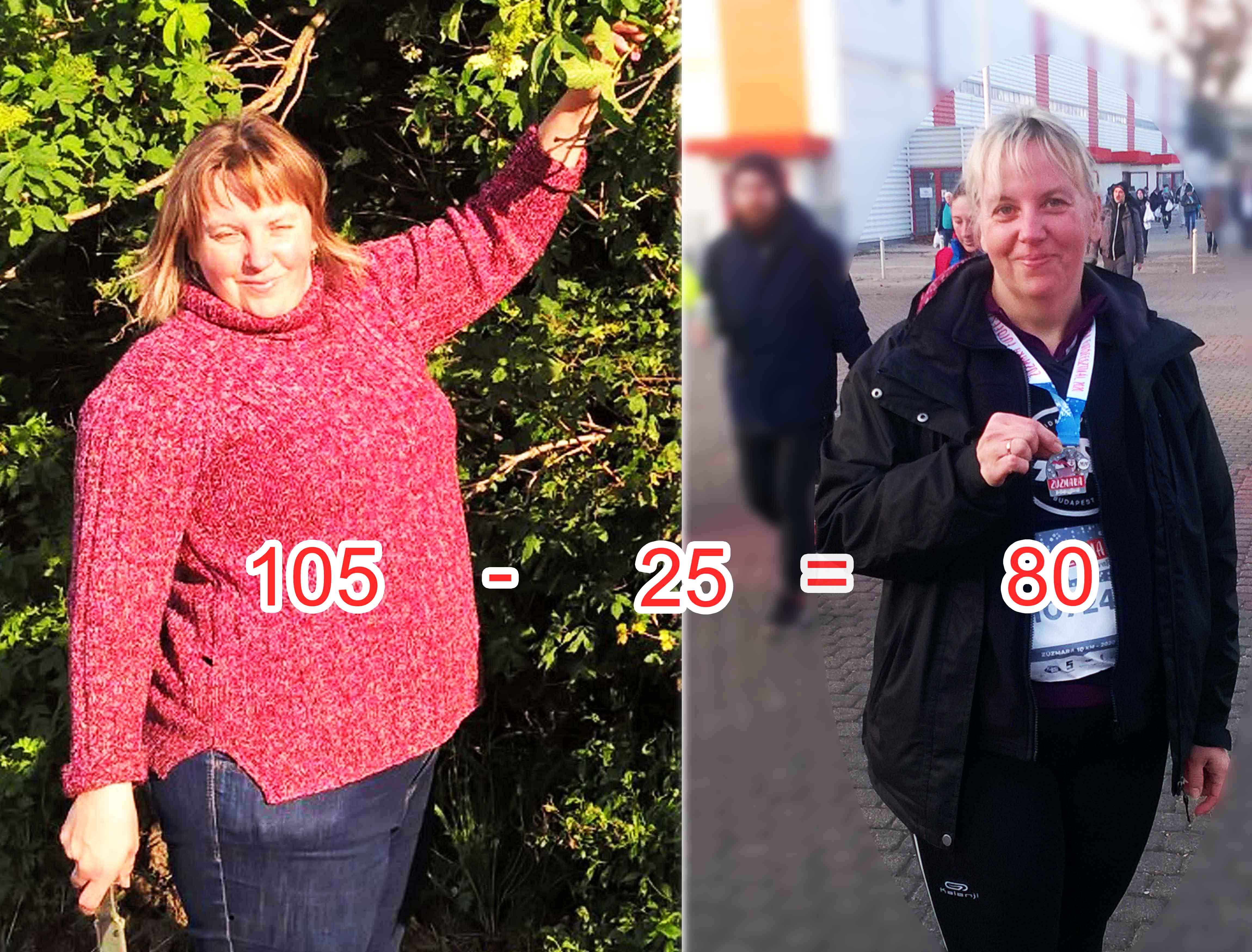 5 kg súlycsökkenés havonta)