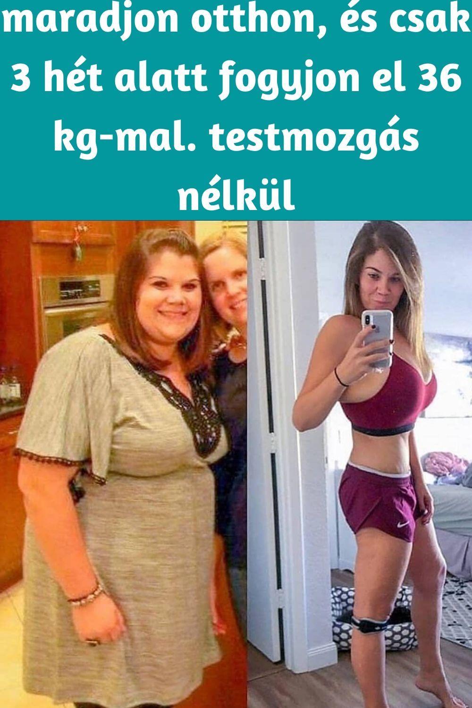 2 hét alatt elveszít 5 kg zsírt