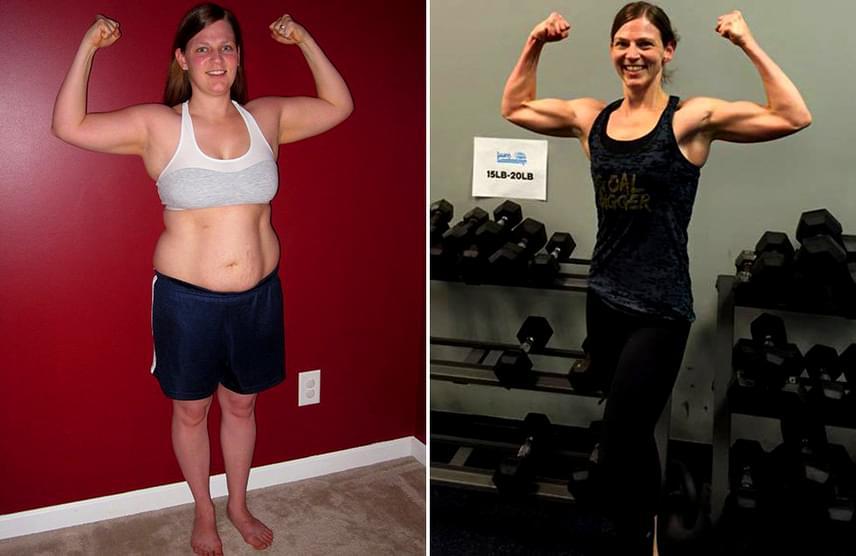 Bátor fogyás: 3 hónap alatt 10 kilót adott le a magyar anyuka!