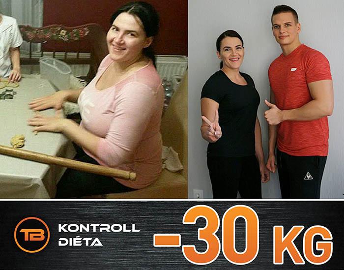 30 kiló fogyás