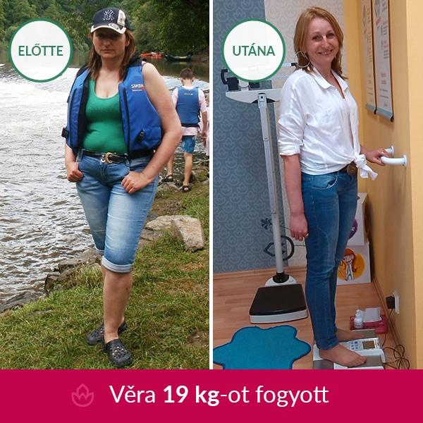 Vera 19 kg-ot fogyott