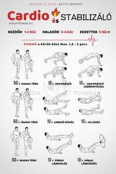 Zsírégető kardio edzés eszköz nélkül 37 perc