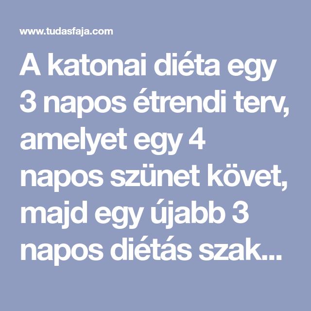 3 napos fogyókúra)