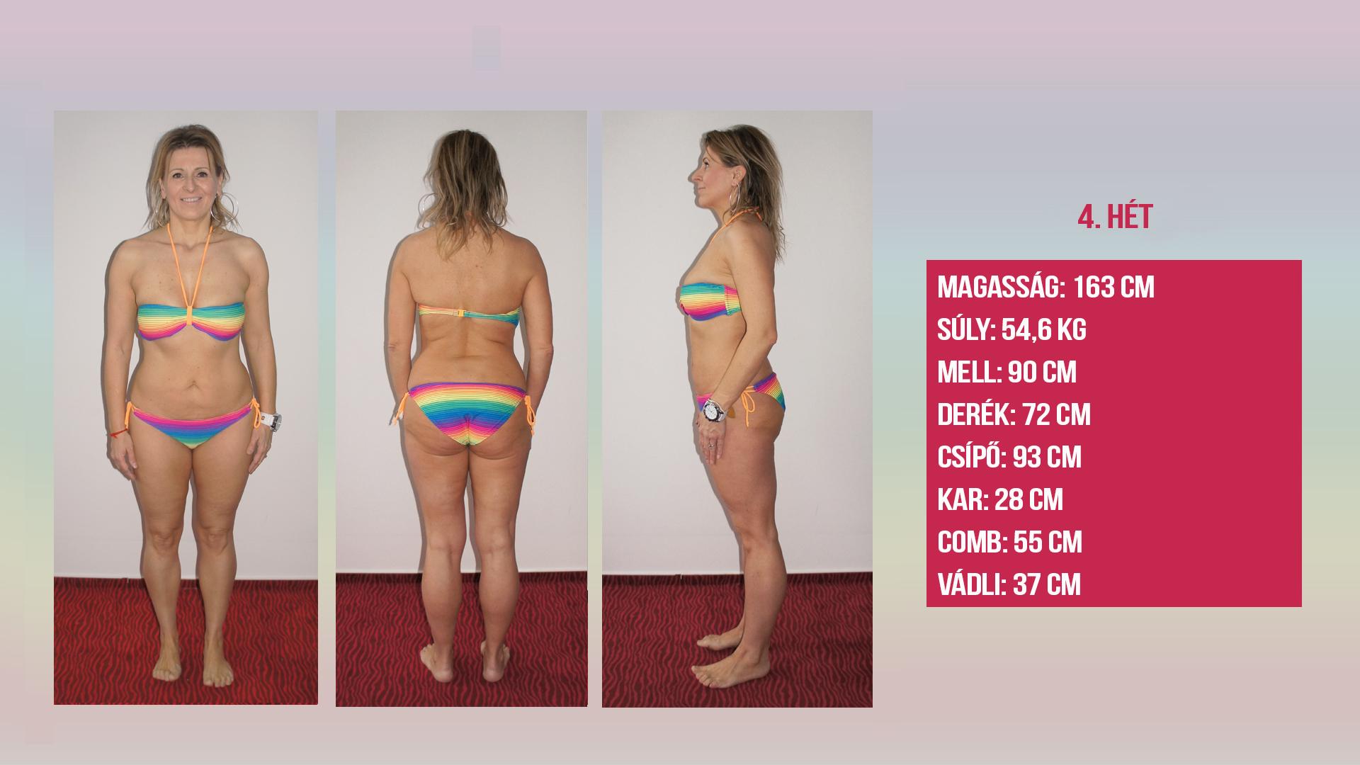 45 kg súlycsökkenés)