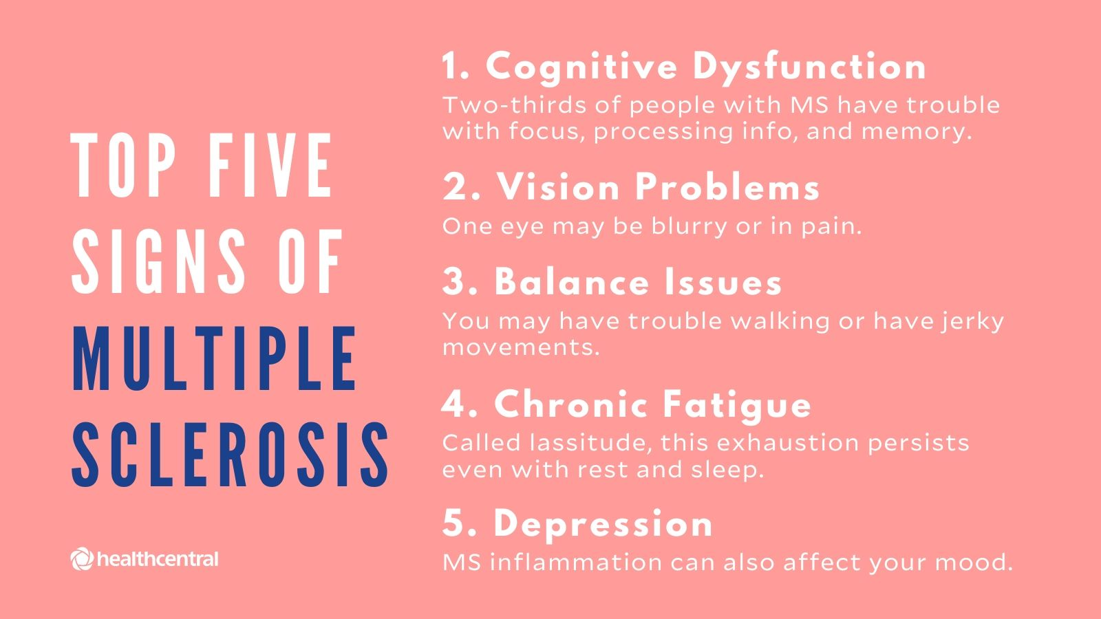multiple sclerosis symptoms in females)
