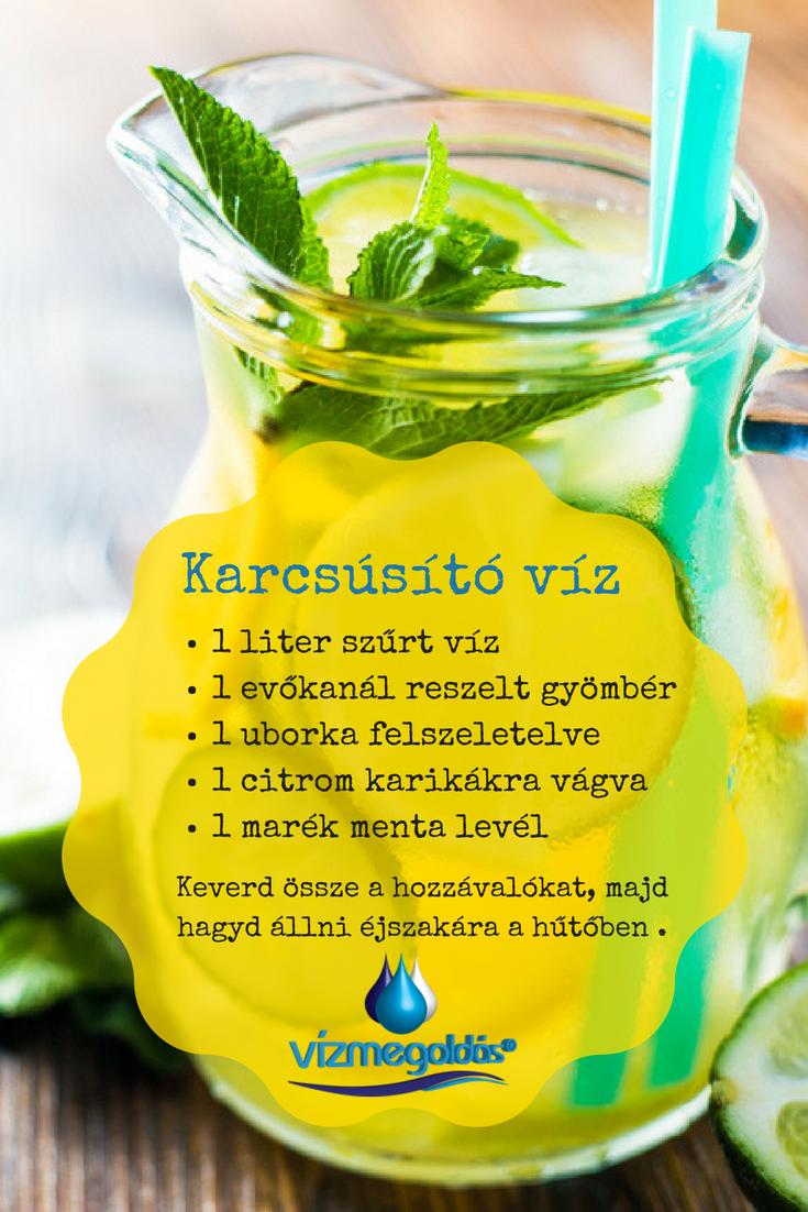 zsírégető ital citrom gyömbér uborka)