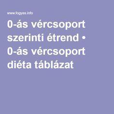 0 negatív vércsoport diéta)