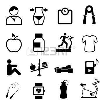Sport fogyás ikon - stock illusztrációk